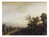 Landskab, Palatina-galleriet, Palazzo Pitti, Firenze Giclée-tryk af Marco Ricci