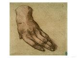 Study of a Left Hand Giclee Print by  Leonardo da Vinci