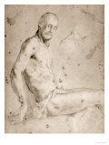 Seated Male Figure, Gabinetto Dei Disegni E Delle Stampe, Uffizi Gallery, Florence Giclee Print by Jacopo da Carucci Pontormo