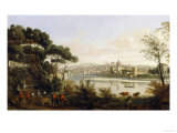 View of Florence, Palatine Gallery, Palazzo Pitti, Florence Giclee Print by  Vanvitelli (Gaspar van Wittel)