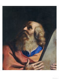 Moses, Palatine Gallery, Pitti Palace, Florence Giclee Print by Guercino (Giovanni Francesco Barbieri) 