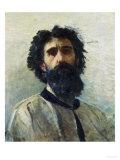 Self-Portrait of Domenico Morelli, Vasari Corridor, Uffizi Gallery, Florence Premium Giclee Print by Domenico Morelli
