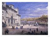 Villa Medici in Rome, Palatine Gallery, Florence Premium Giclee Print by  Vanvitelli (Gaspar van Wittel)