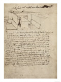 Project for the Construction of a Rampar, Housed at the Institut De France, Paris Giclee Print by  Leonardo da Vinci