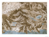 Chorographical Map of Tuscany and the Neighboring Regions Giclee Print by Leonardo da Vinci