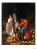 Eudorus and Cymodoce, Modern Art Gallery, Florence Giclee Print by Luigi Mussini