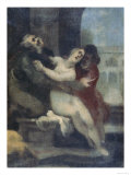 Susanna and the Elders, Uffizi Gallery, Florence Premium Giclee Print by Cristofano Allori