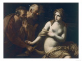 Suzanna and the Elders, Uffizi Gallery, Florence Giclee Print by Guido Reni