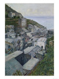 View of Riomaggiore, Modern Art Gallery, Florence Giclee Print by Telemaco Signorini