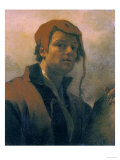 Self-Portrait, Vasari Corridor, Florence Premium Giclee Print by Willem Drost