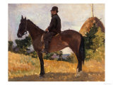 Diego Martelli on Horseback, Modern Art Gallery, Pitti Palace, Florence Giclee Print by Giovanni Fattori