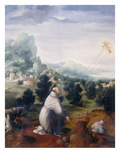 St. Francis Receiving the Stigmata, Palatine Gallery, Florence Premium Giclee Print by Jan van Scorel