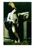 David with the Head of Goliath, Vasari Corridor, Florence Giclee Print by Guido Reni