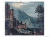 Landscape, Palatine Gallery, Pitti Palace, Florence Giclee Print by Jan Brueghel the Elder