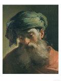 Head of an Old Man in a Turban, Vasari Corridor, Uffizi Gallery, Florence Giclée-tryk af Ubaldo Gandolfi
