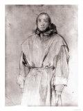 Portrait of a Friar, Gabinetto Dei Disegni E Delle Stampe, Uffizi Gallery, Florence Giclee Print by Jacopo da Carucci Pontormo