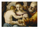 Holy Family, Palatine Gallery, Pitti Palace, Florence Giclee Print by  Guercino (Giovanni Francesco Barbieri)