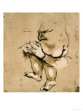 Study of a Child in the Arms of a Woman Giclee Print by Leonardo da Vinci