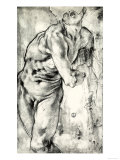 Nude Man with His Body Turned to the Right Giclée-tryk af Jacopo da Carucci Pontormo