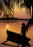 Vietnam, Cantho on the Mekong River Prints by Keren Su