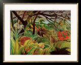 Surprised! Storm in the Forest Posters by Henri Rousseau