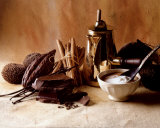 Chocolate, Cream, Cinnamon Prints by Cabannes &amp; Ryman 