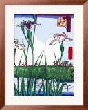 Irises a Pond Posters by  Hiroshige II