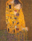 De Kus, ca.1907 Kunst van Gustav Klimt