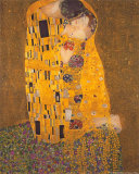 Suudelma, n. 1907 Taide tekijänä Gustav Klimt