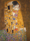 Gustav Klimt - Polibek, cca1907 Plakt