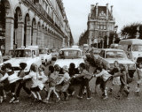 School Kids Print by Robert Doisneau
