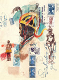 African Costumes Posters by Marc Lacaze