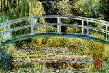Die japanische Brücke in Giverny Poster von Claude Monet
