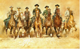 Les sept mercenaires Reproduction sur toile tendue par Renato Casaro