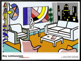 Interior with Skyline Poster by Roy Lichtenstein