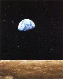 月から昇る地球 アート