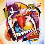 Slå an tangenterna|Stroking the Keys Sträckt Canvastryck av Gockel, Alfred