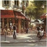 Camareros de un restaurante Lámina por Brent Heighton