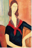 Young Woman with Scarf Stretched Canvas Print by Amedeo Modigliani