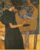Die Musik Płótno naciągnięte na blejtram - reprodukcja autor Gustav Klimt
