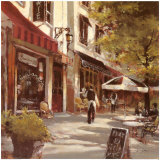 Boulevard Cafe Poster by Brent Heighton