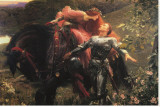 La Belle Dame Sans Merci Reproduction transf&#233;r&#233;e sur toile par Frank Bernard Dicksee