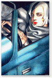 Autoportrait Stretched Canvas Print by Tamara de Lempicka