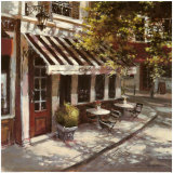 Wine Cafe Poster von Brent Heighton