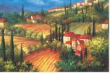 Village de Vinci Stretched Canvas Print by Per Mattin