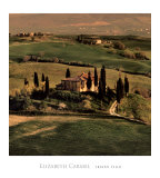 Villa toscane Posters par Elizabeth Carmel