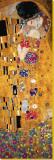 Kysset (detalj) Trykk på strukket lerret av Gustav Klimt