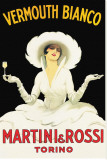 Martini &amp; Rossi Reproduction transf&#233;r&#233;e sur toile par Marcello Dudovich