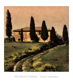 Tuscan Farmhouse Print by Elizabeth Carmel