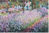 Jardin De Monet Reproduction transf&#233;r&#233;e sur toile par Claude Monet